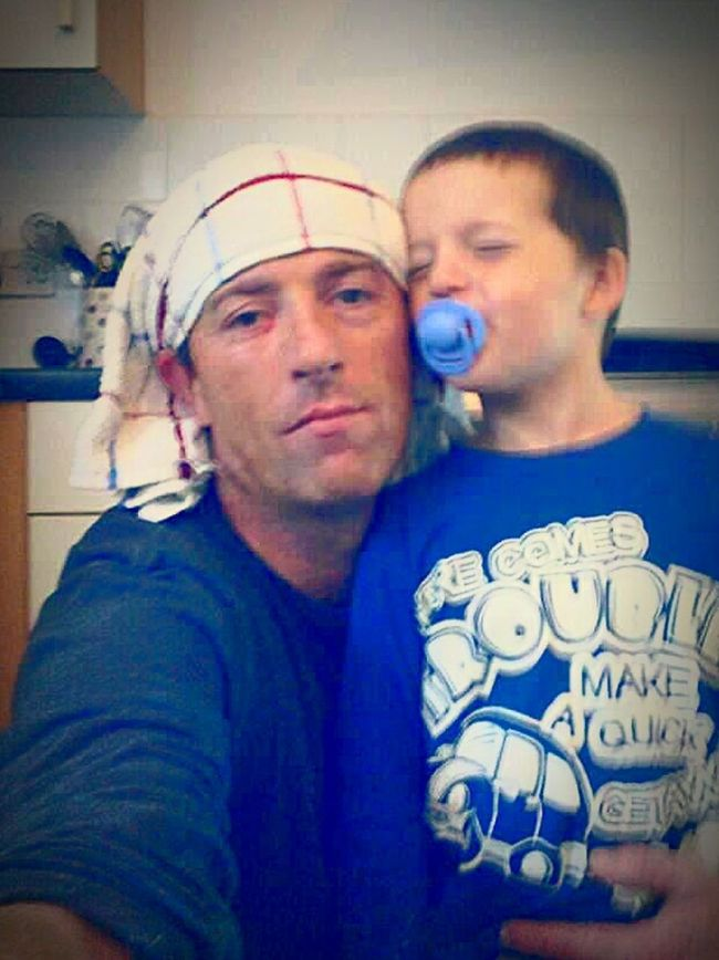 My Boy And I Cooking With Dad Calum Tea Towel Head
