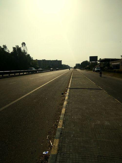 Roadsidephotography Roadscenes Empty Road No Vehicles Sunlight ☀ Summer Memories... Footpath Heat Speed