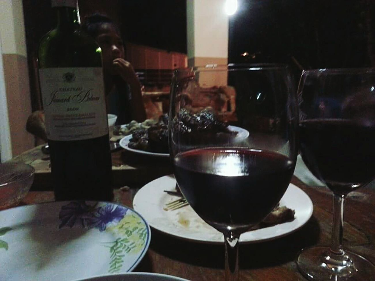 Having dinner with my lovely family BBQ Wine French Wine Family Time What's For Dinner?