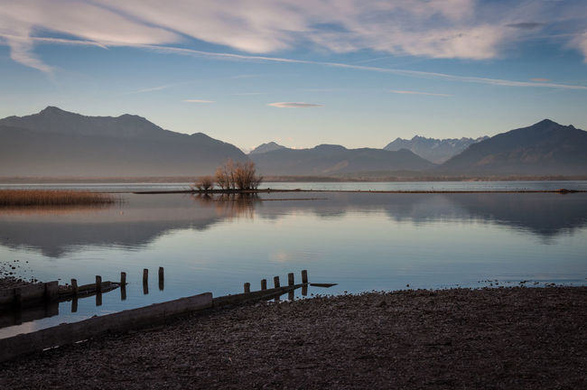 chiemsee Beauty In Nature Cloud - Sky Day Horizontal Lake Mountain Nature No People Outdoors Reflection Scenics Sky Sunset Water