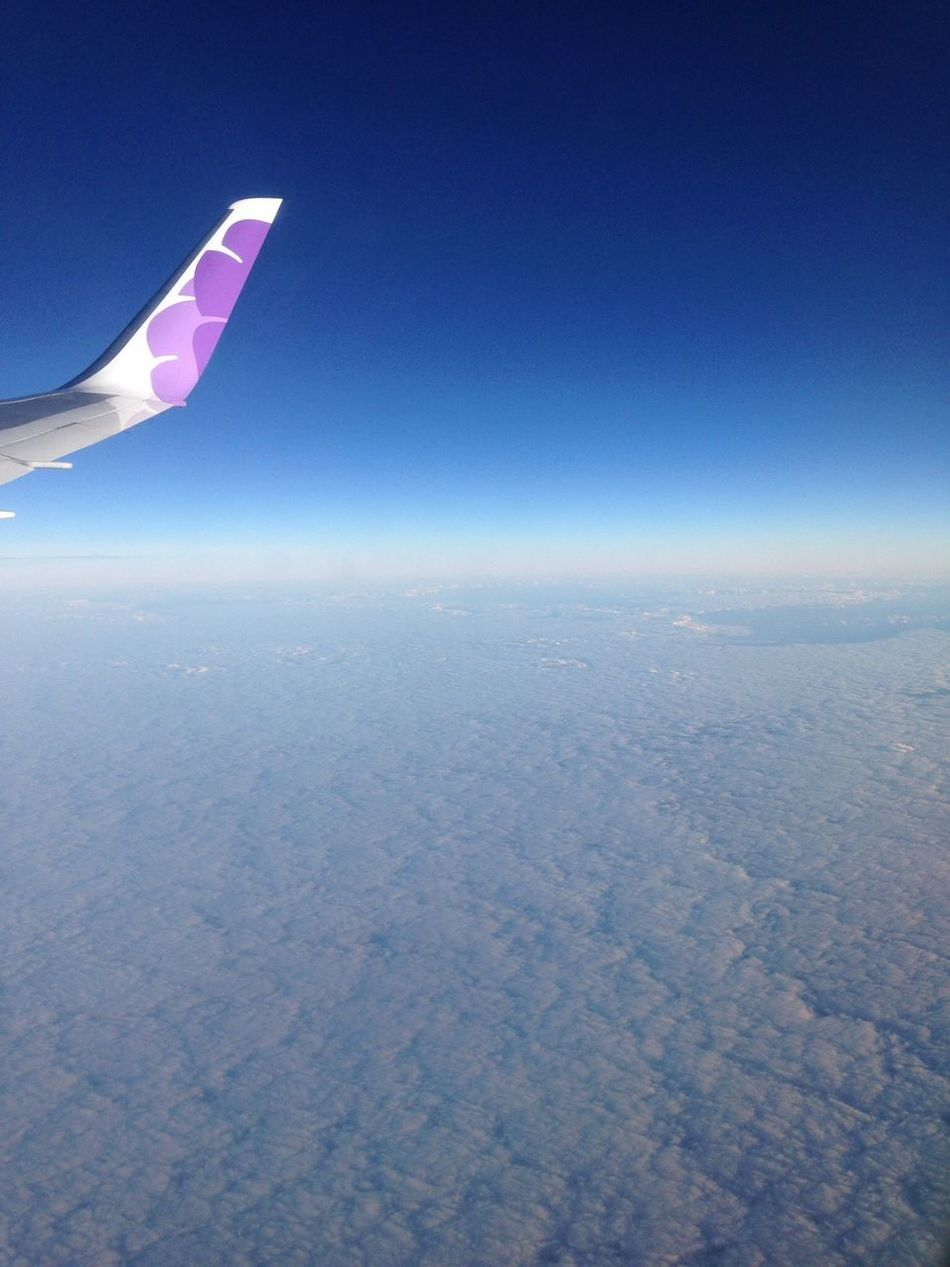 From An Airplane Window Clouds And Sky Hawaiianairlines hello world
