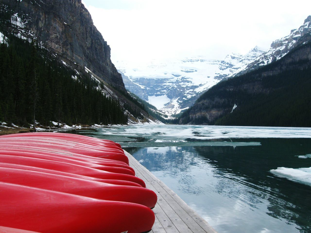 Miles Away Lakelouise Rocky Mountains Mountain Lake Outdoors No People Landscape Nature Enjoying Life Adventuretime Rocky Mountain Travel Destinations Beauty In Nature Nice View Happy Time Nature Canoes Snow Pinetrees