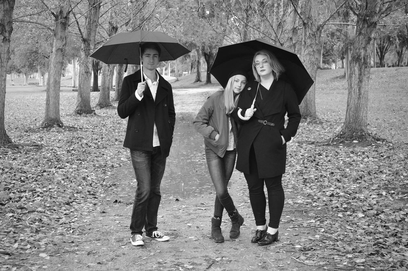 My Loves. Happiness Friendship Togetherness Family My Year My View Bonding Siblings Baylands Park Sunnyvale Fine Art Photography Blackandwhite Bw_collection Shootermag EyeEm Best Shots Umbrella