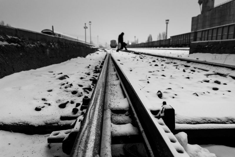 Cold Cold Temperature Home Human Kar Kars Outdoors Returning Home Snowly Station Train Turkey