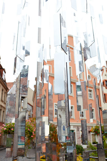 Architecture Art Art Installation City Detail Echo Europe Glass Latvia Looking Glass Mirror Modern No People Nobody Piece Reflection Riga Shards Town Vertical