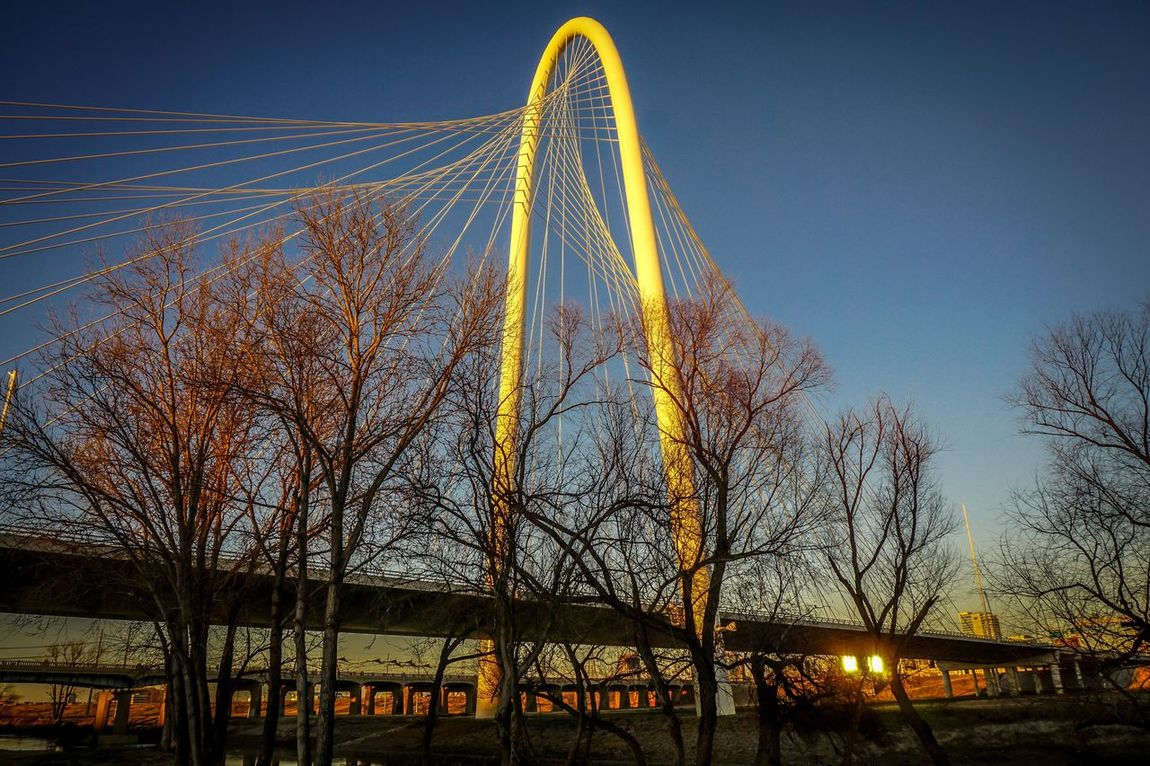 Dallas Tx Sunset Bridge Art Architecture Margrethunthillbridge First Eyeem Photo The City Light