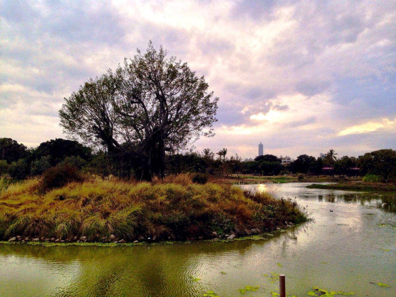 末日 Sunset Clouds And Sky Lake View Trees Memories Parks