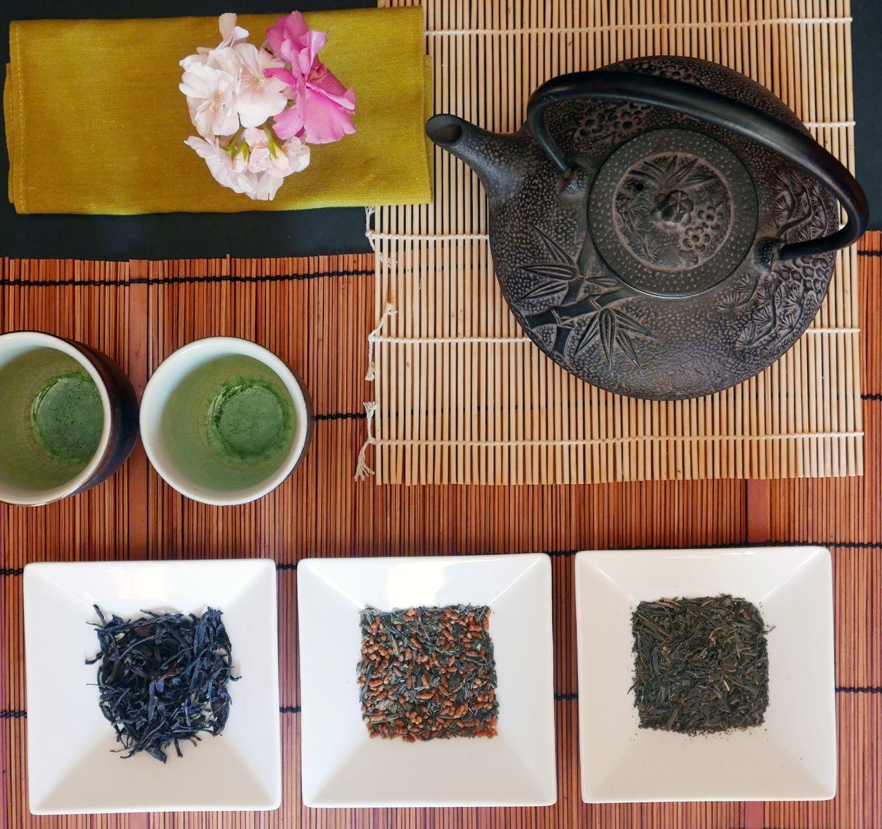 different kind of Far East tea Cast iron teapot still life Tea Ceremony Far East Still Life Teapot Tea