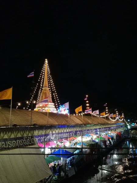 Temple fair last night. Night Celebration Illuminated Travel Destinations Arts Culture And Entertainment Multi Colored Outdoors Architecture Cityscape Sky Ferris Wheel Modern City People Popular Music Concert EyeEmNewHere