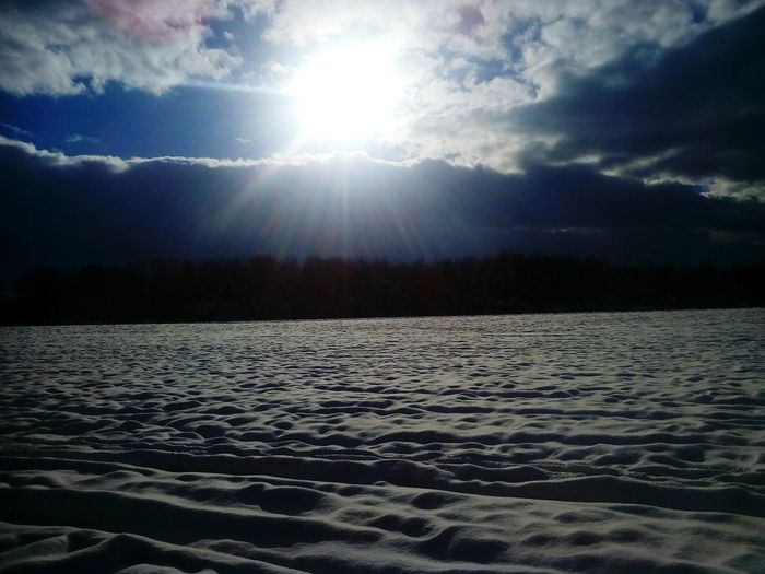 Winter Landscape Cold Temperature Snow Nature Tranquility Scenics No People Outdoors Sun Lake Beauty In Nature Frozen Day Sky Snow EyeEm Ready   EyeEmNewHere