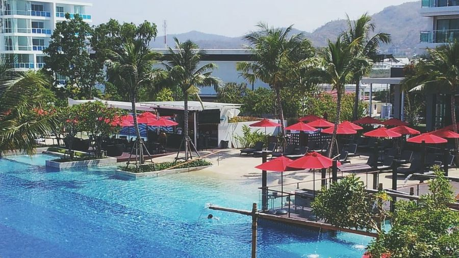 EyeEm Best Shots - Nature Relaxing Time Blue&red Love Cha-Am Bueatiful Day Dusit Thani Hotel HuaHin Sea@Thailand