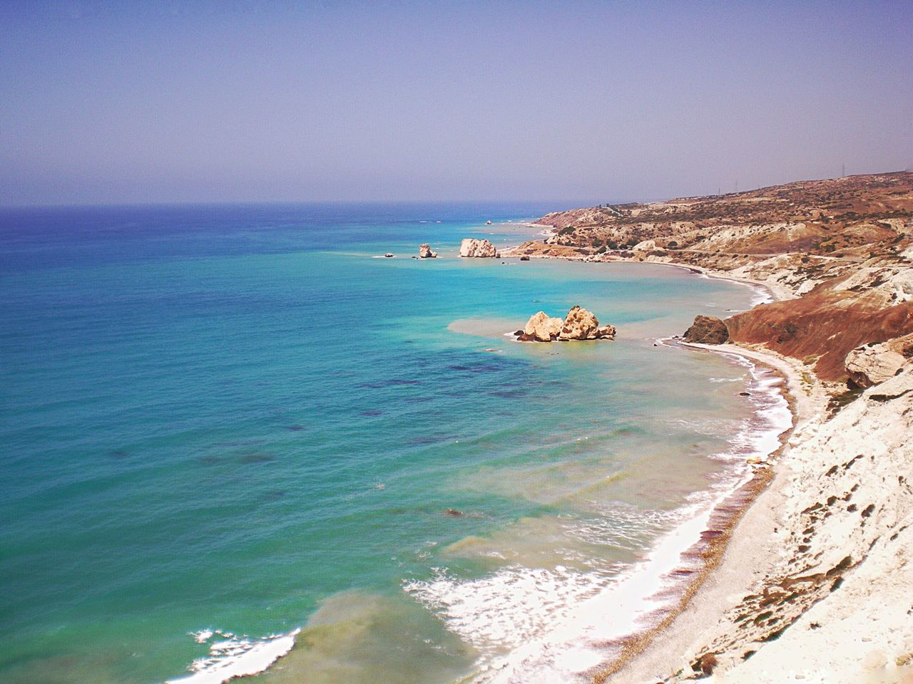✨Cyprus, the island of Aphrodite✨ Horizon Over Water Sea Beach Water Nature Beauty In Nature Clear Sky Outdoors Coastline Sand No People Capture The Moment Great Atmosphere Landscape Summer Photo Photography Cyprus Island Mediterranean Sea Mediterranean  EyeEm EyeEm Gallery EyeEm Best Shots EyeEm Best Edits