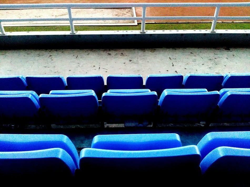 Chair Seat In A Row Blue Arts Culture And Entertainment Folding Chair No People Auditorium Indoors  Day Sriwijayafc Tribune West Stadion Gelora Sriwijaya Jakabaring - Palembang, Indonesia. EyeEm Diversity EyeEm Diversity Art Is Everywhere