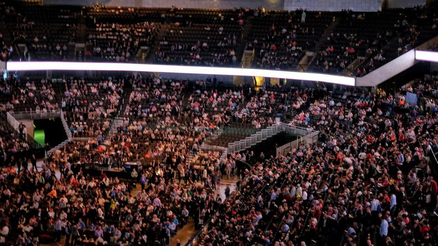 2017 Berkshire Hathaway Annual Shareholders Meeting Saturday, May 6, 2017 CenturyLink Center Omaha 455 North 10th Street Downtown Omaha, Nebraska http://www.berkshirehathaway.com/sharehold.html https://finance.yahoo.com/brklivestream 1% 40,000 People Arena Audience Berkshire Hathaway Capitalism CenturyLink Center Omaha Convention Center And Arena Crowd Cult Of Personality Documentary Documentary Photography Indoors  Large Group Of People Lifestyles Modern Religion Money Around The World Omaha, Nebraska People Photojournalism Shareholders' Meeting Social Issues Spectator Stadium Woodstock For Capitalists