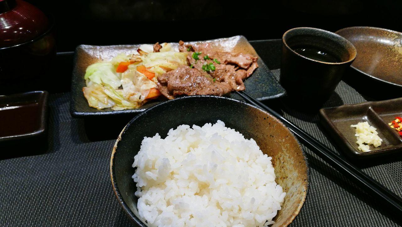 Rib Eyes Black Pepper Sauce Tepanyaki Set No People Food Indoors  Ready-to-eat Tepanyaki Japanese Food Japanese Style Rib Eye Yummy Bangkok Thailand. Meat