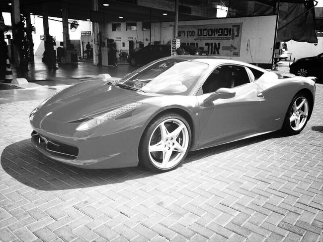 Taking Photos Ferrari Red Black & White even in black n white its still red !