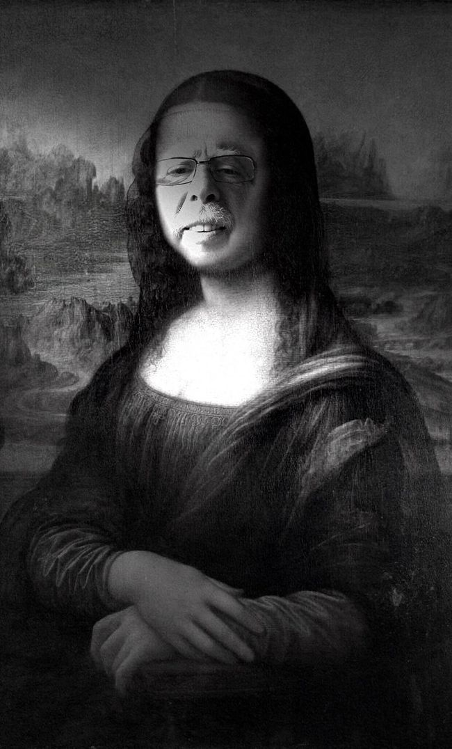 Bnw_friday_eyeemchallenge Creative Selfie Temporary Art Temporary Post j'avoue : Léonard m'a aidé..!