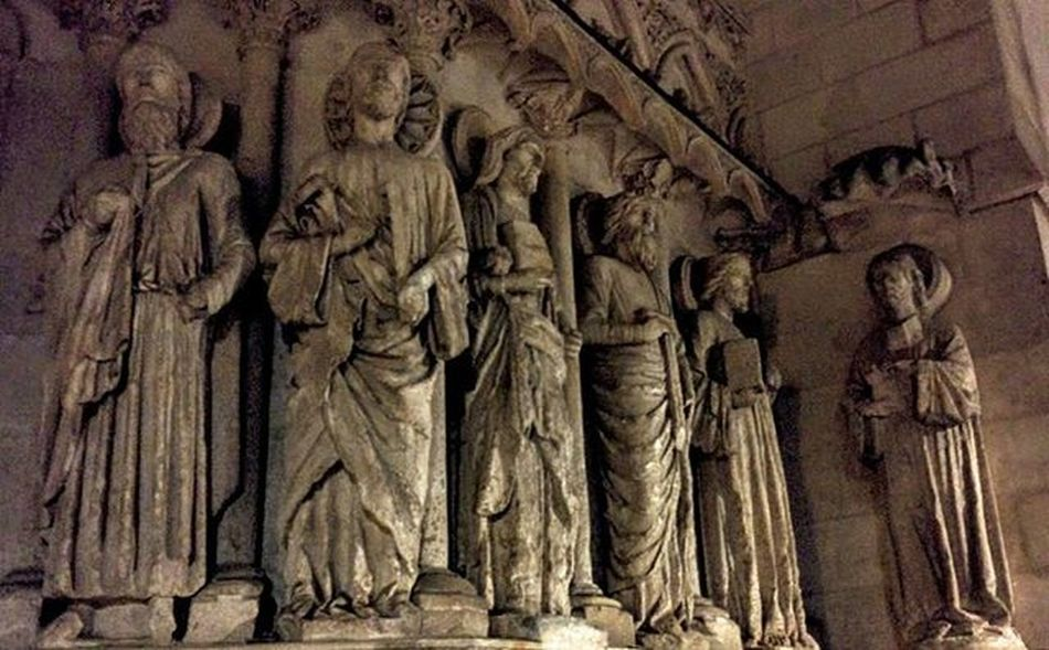 Burgos Cathedral. The door of the Crown Apostles Jambs Christ Judgment Mankind Discoveringburgos Burgos Castillayleon SPAIN Burgoscathedral Cathedral Gothic Gotico Catedral Arquitectura Medieval