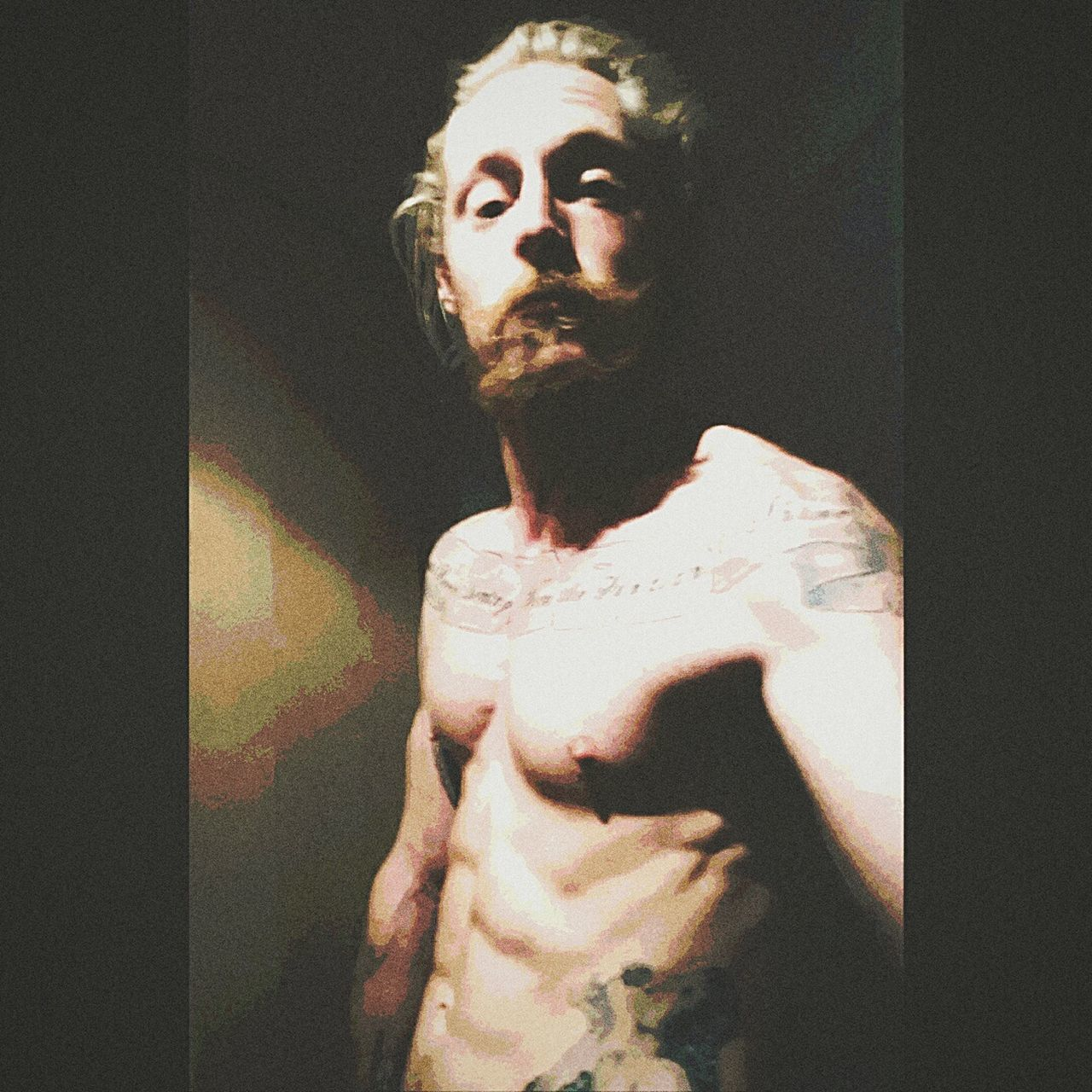 Hello World Feel Like Diyng WastedYouth Tatted Selfportrait Peace, Love And Weed.