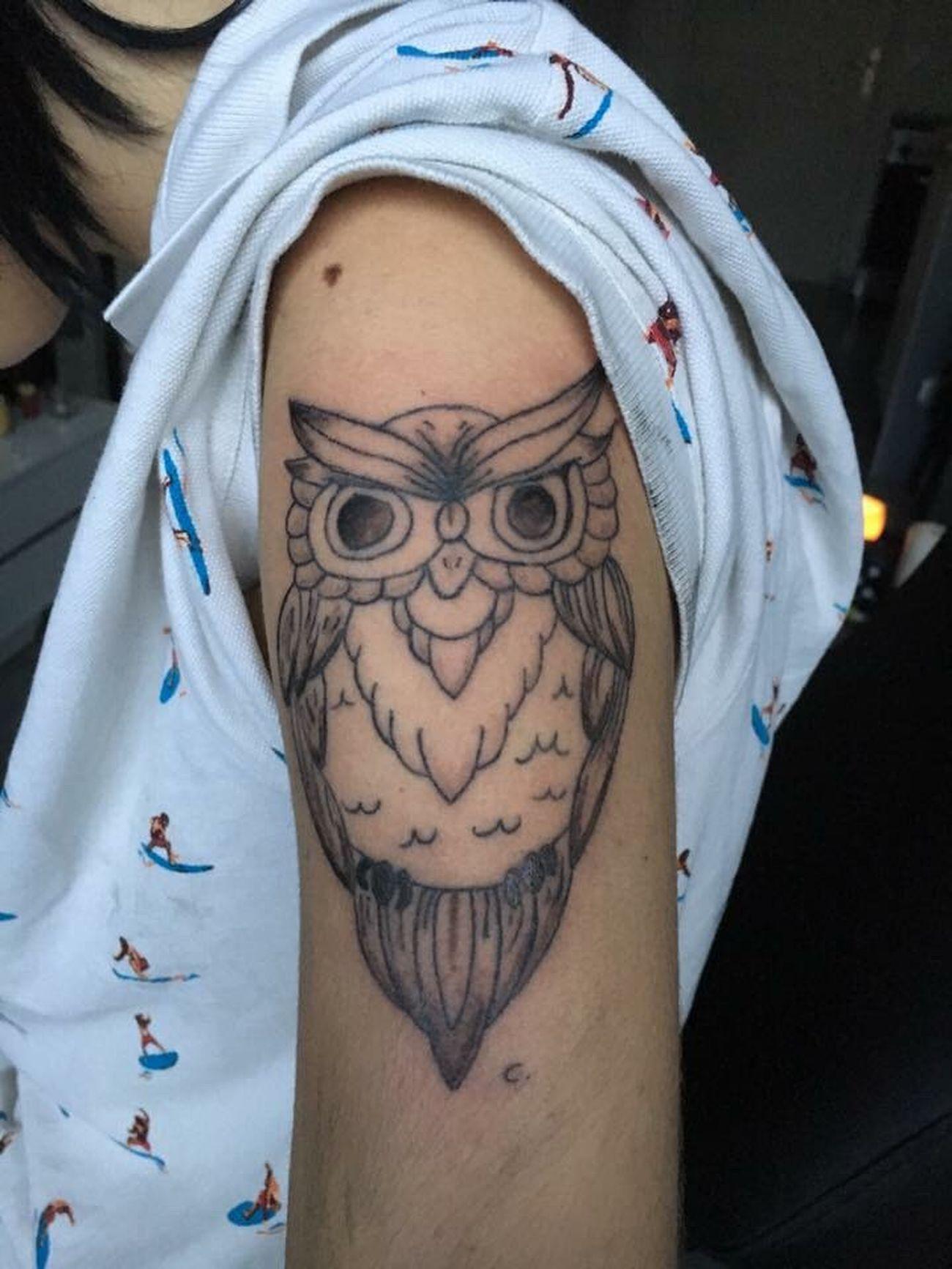 Tattoo Tattoos Blackandwhite Chouette ANIMAL TATOO