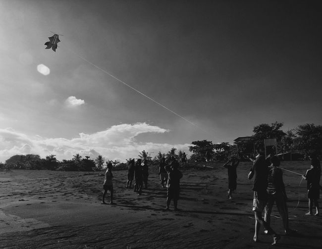 Playground Monochrome Photography The Five Senses Blackandwhite Photography Monoart Monochrome Taking PhotosEye4photography  Wanderlust Traveling Streetphotography Light And Shadow Blackandwhite Snapshot EyeEm EyeEm Indonesia People Life Is A Beach Beach