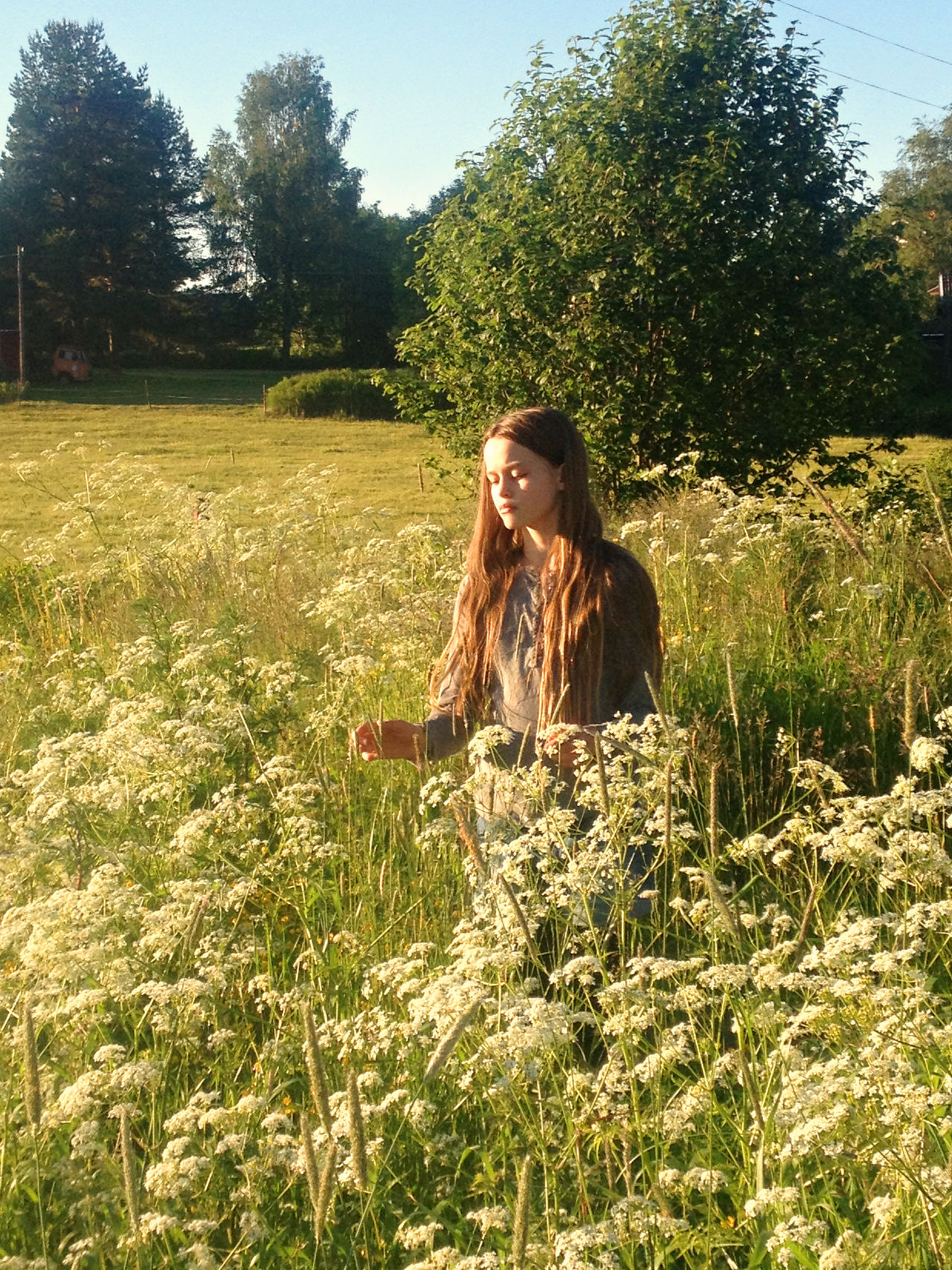 Alone Carefree Casual Clothing Dalarna Day Escapism Field Front View Full Length Getting Away From It All Grass Grassy Green Color Lifestyles Real People Relaxation SOMMARLOV Sommarsverige Standing Summer Summertime Sweden Women