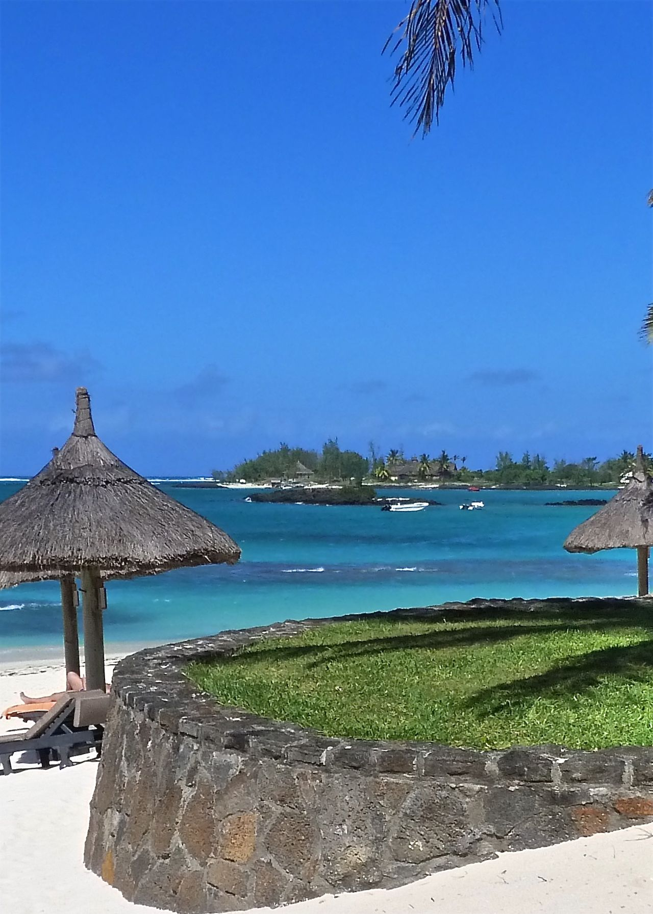 Amazing View Beach Beauty In Nature Belle Mare Plage Blue Calm Clear Sky Hello World Majestic Mauritius Ocean On The Beach Parasol Relaxing Sea Summer Sunbathing Sunbeds And Umbrella Sunshade Take Your Place Taking Photos Tranquil Scene Vacations Water Legs