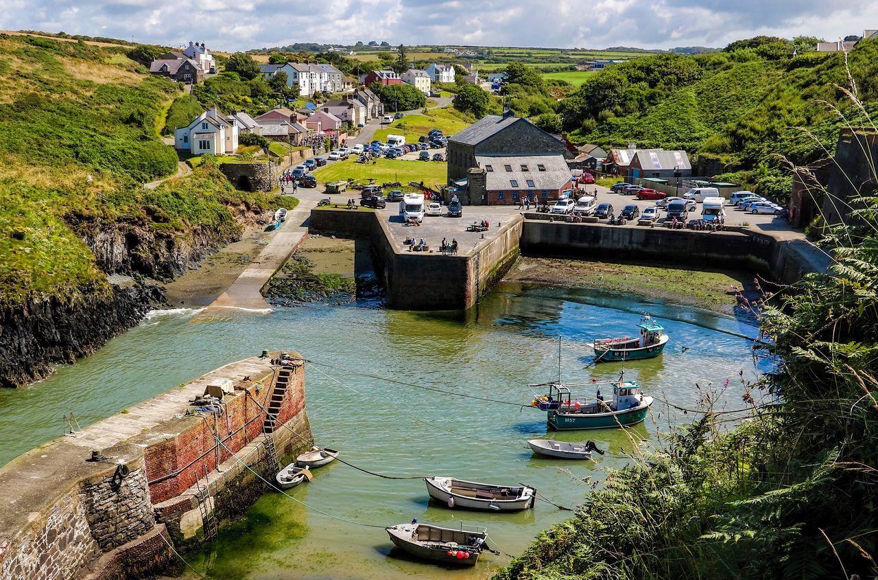 Boats⛵️ Harbour Harbour View Pembrokeshire Pembrokeshire Coast Porthgain Harbour Wales Wales❤ Waterfront