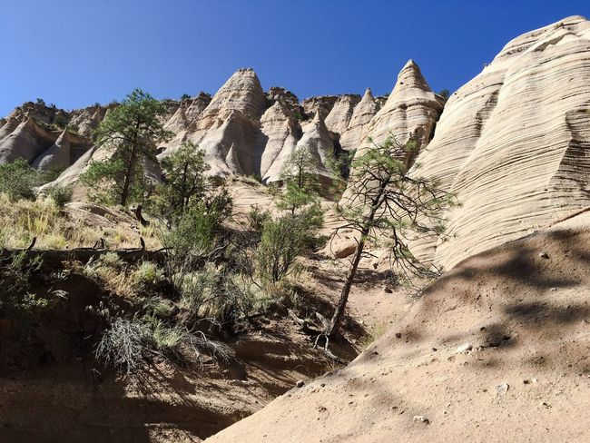 Rock Formation Clear Sky Physical Geography Geology Tranquil Scene Scenics Rock - Object Sunlight Eroded Nature Beauty In Nature Cliff Tranquility Mountain Sunny Non-urban Scene Outdoors Rocky Mountains Day Arid Climate Beauty In Nature Kasha-Katuwe Tent Rocks National Monument USA Tourism USAtrip