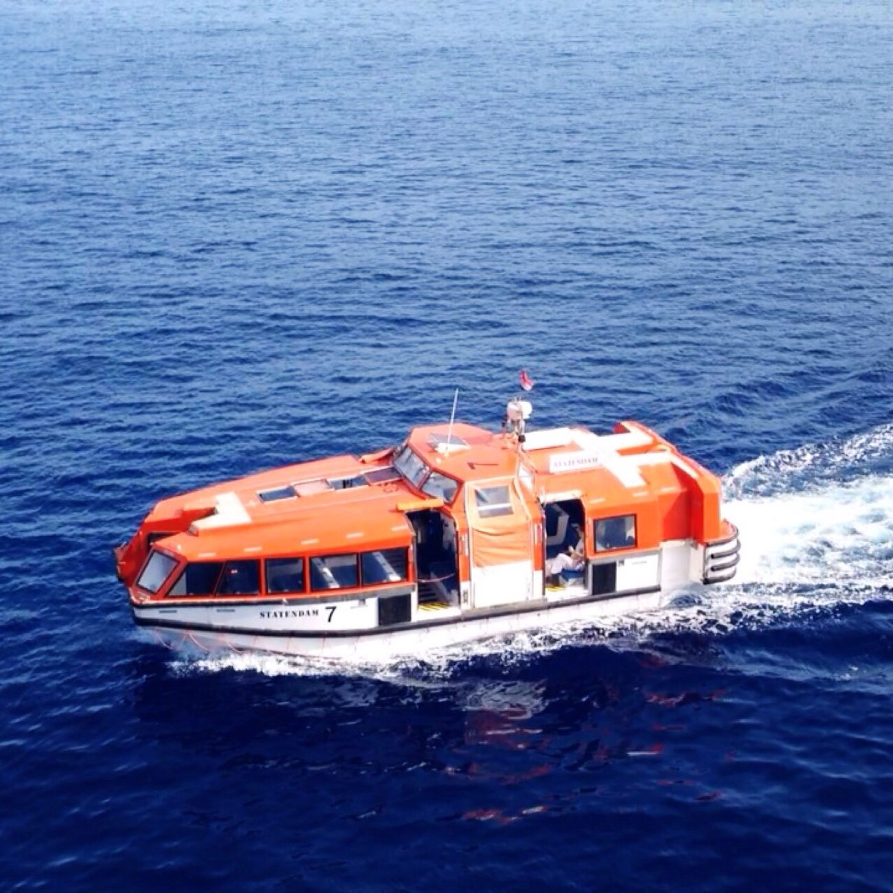 Tender Orange Cruise Lifeboat Nautical