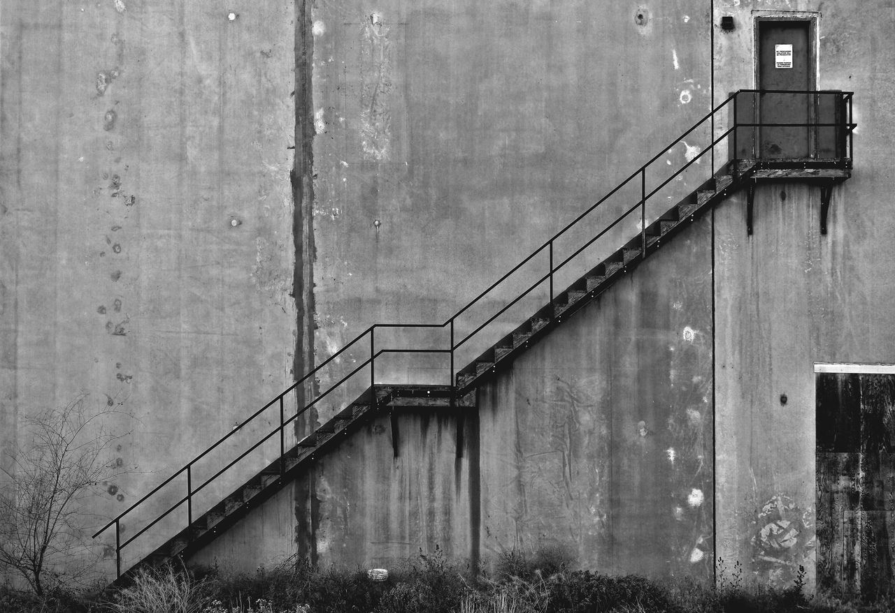 Stairway To Heaven Built Structure Architecture No People Staircases Concrete Jungle Business Finance And Industry Factory Industry Angles And Lines Concrete Concrete Wall Stairway Stairs_collection Stair Stairways Stairs Going Up Copy Space Steps And Staircases Staircase Railing Backgrounds Black & White B&w