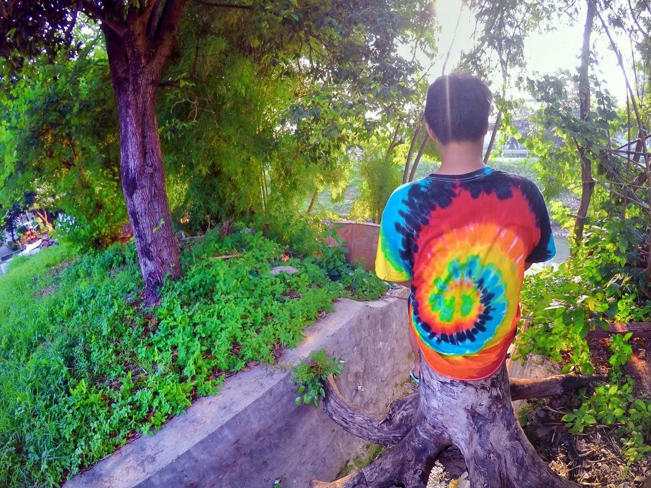 Relaxed to it's fullest Multi Colored One Person Tree Outdoors Cultures Eyem Gallery Live In Motion  Handphonephotograhy EyeEm Nature Lover Eyemphotography RASTA Relaxing Pshycedelic eyem vision Tranquil Scene Nature
