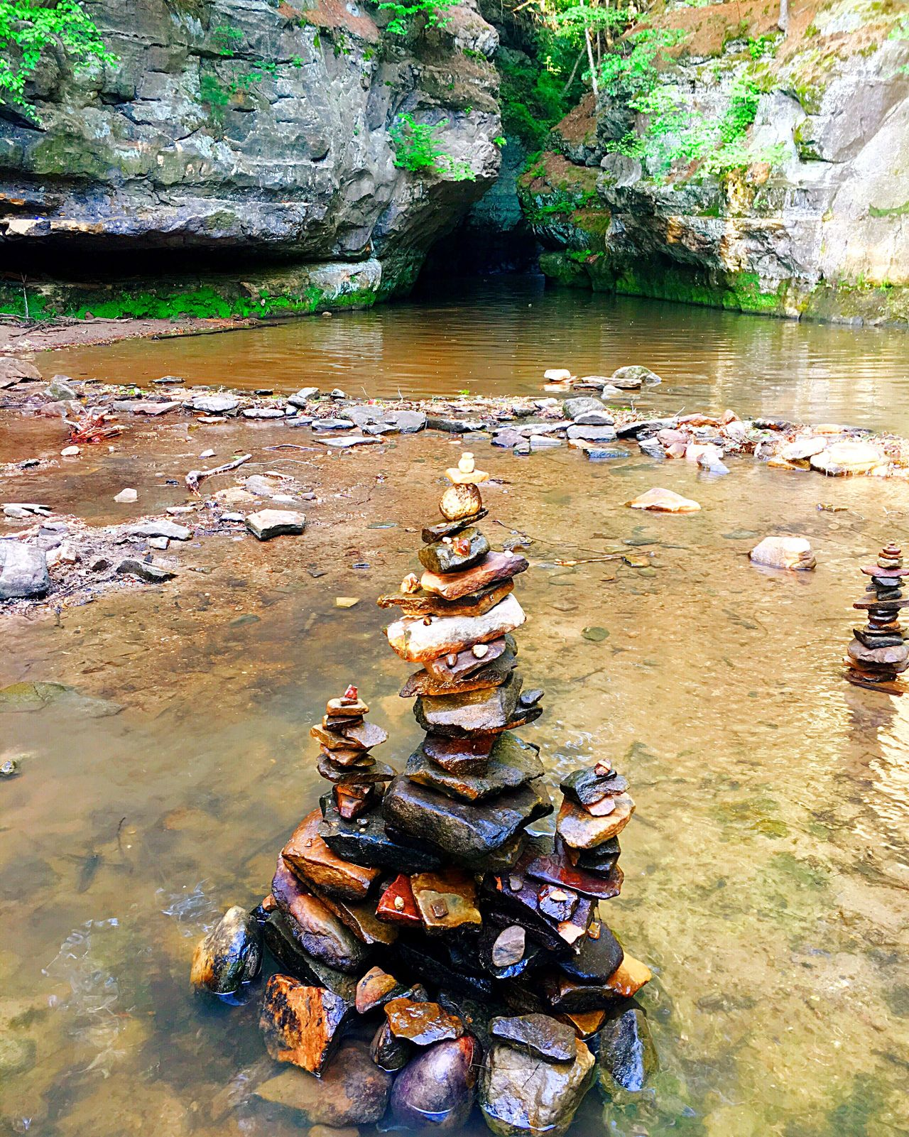 Stone stacking/Cairns Rock - Object Water Stonestacking Stone Stacking Stone Stack Natural Pool Colorful Stones Cairn Cairns Baraboo Baraboo Wi Pewits Nest Pewitsnest Live For The Story Place Of Heart The Great Outdoors - 2017 EyeEm Awards