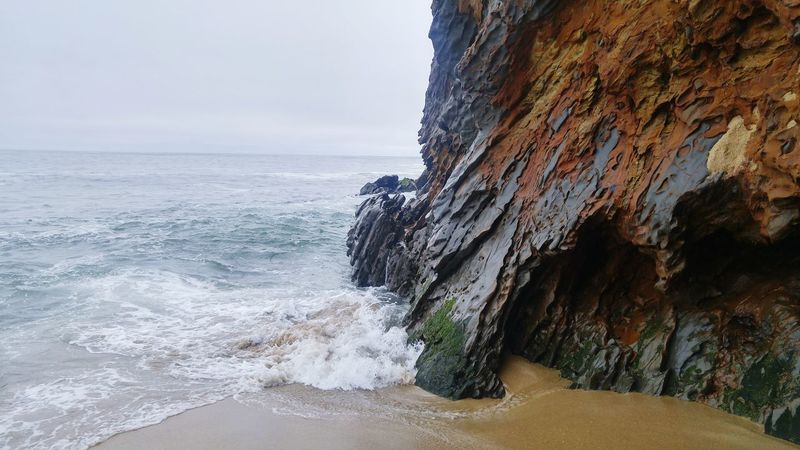 Cliffside Tide Coming In Scenic View Color Of Life Ocean View Waves And Rocks Sea Wall Colour Of Life