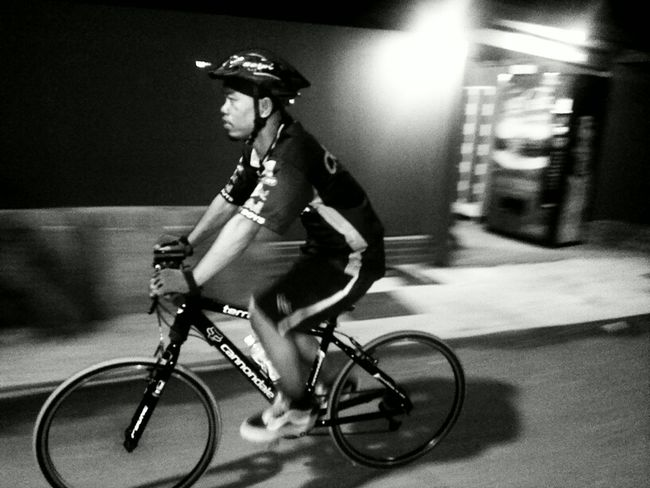 Sentosa Island Night Ride. Blackandwhite