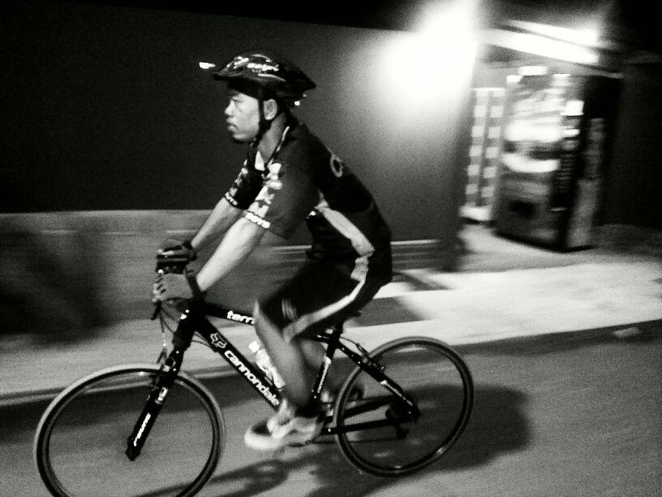 Sentosa Island Night Ride. Blackandwhite