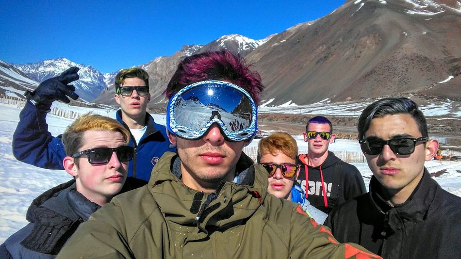 Mendoza, Argentina!! My Year My View Sky Snow ❄ Mountain View Friends ♥ Sunglasses Haircolor Graduateschool Blue Friendship Fun Outdoors Day Vacations