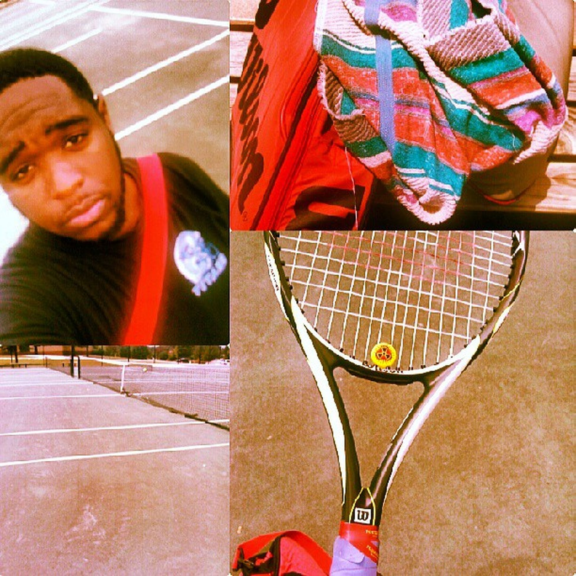 At the tennis court grindin...Tennis Wilson  Prince  Thirstisreal