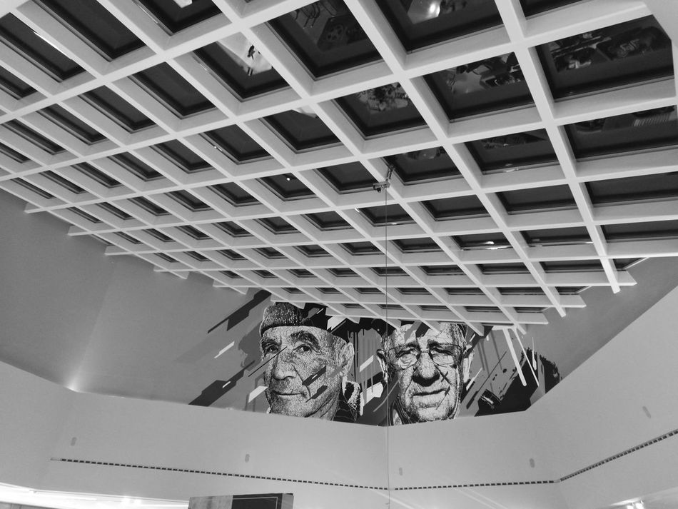 Built Structure Low Angle View Pattern Architecture No People Ceiling Ceiling Design Ceiling Art Allegro Monochrome Photography Monochrome Monochromatic Bnw B&w B&w Photography Black And White Black & White Setúbal Portugal No People Oo Capturedonp9 HuaweiP9 Indoors  Architecture