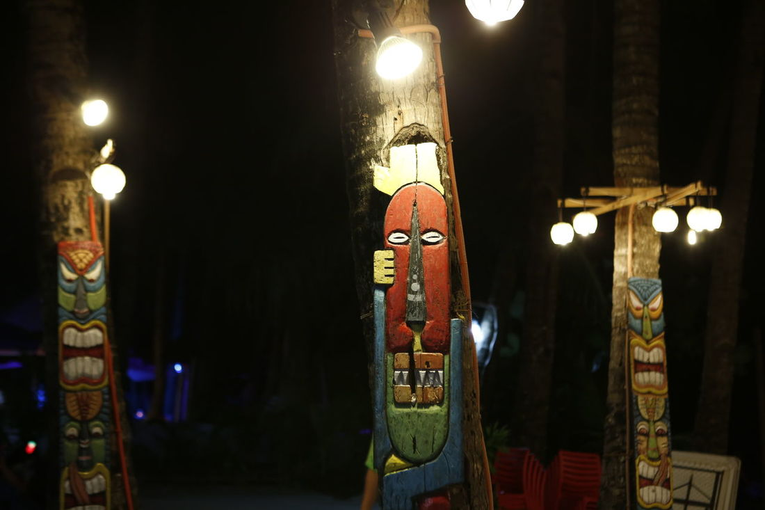 Colors Illuminated Lighting Equipment Night No People Outdoors Sculpture Wood Curvings