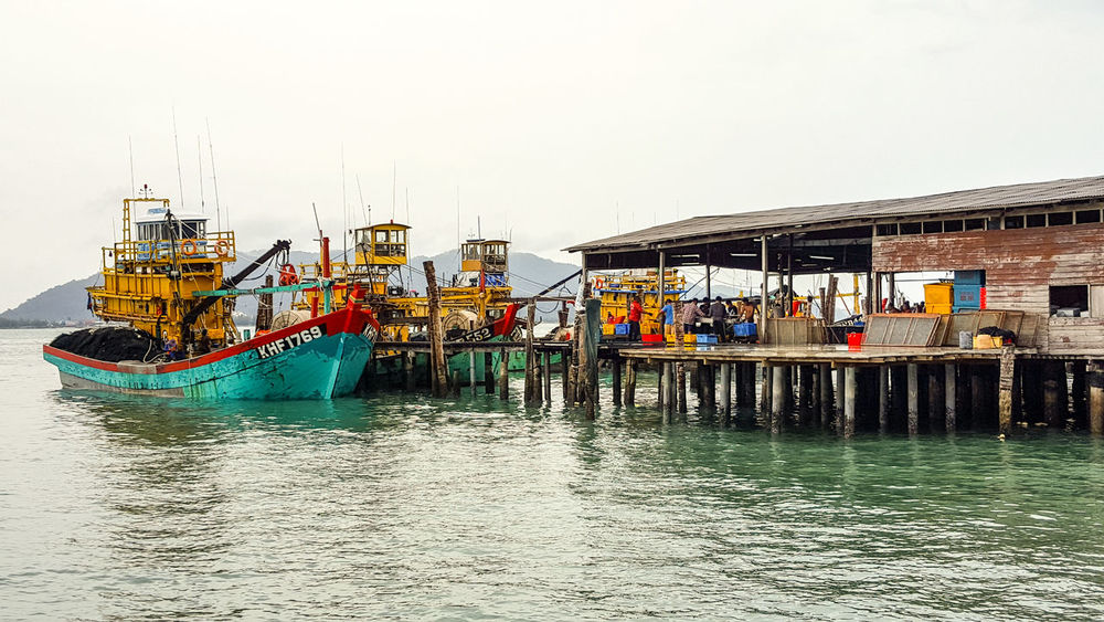 Fishing village, Pulau Pangkor - Malaysia Harbor Sea Clear Sky Water Built Structure Multi Colored Scenics Fishing Village Boats Harbour & Ships Fishing Boats Fishing EyeEm Nature Lover Eye4photography  Sky Outdoors Cloud Pangkor Island Malaysia Truly Asia Beauty In Nature