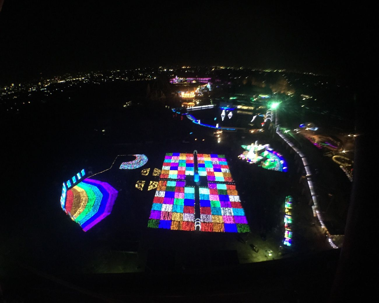 Rainbow Ferris Wheel Light Illumination Christmas Amusementpark Japan Winter 虹 観覧車 遊園地 イルミネーション クリスマス 東武動物公園