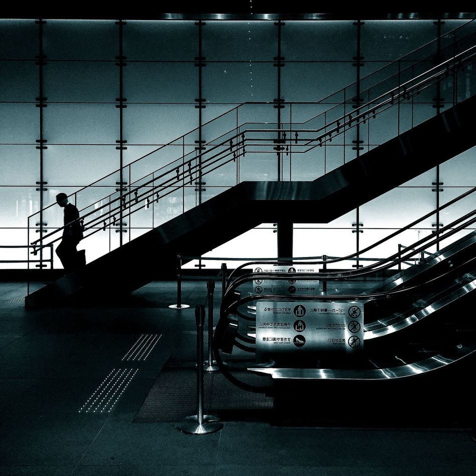 Beautiful stock photos of business, Architecture, Escalator, Full Length, Glass - Material