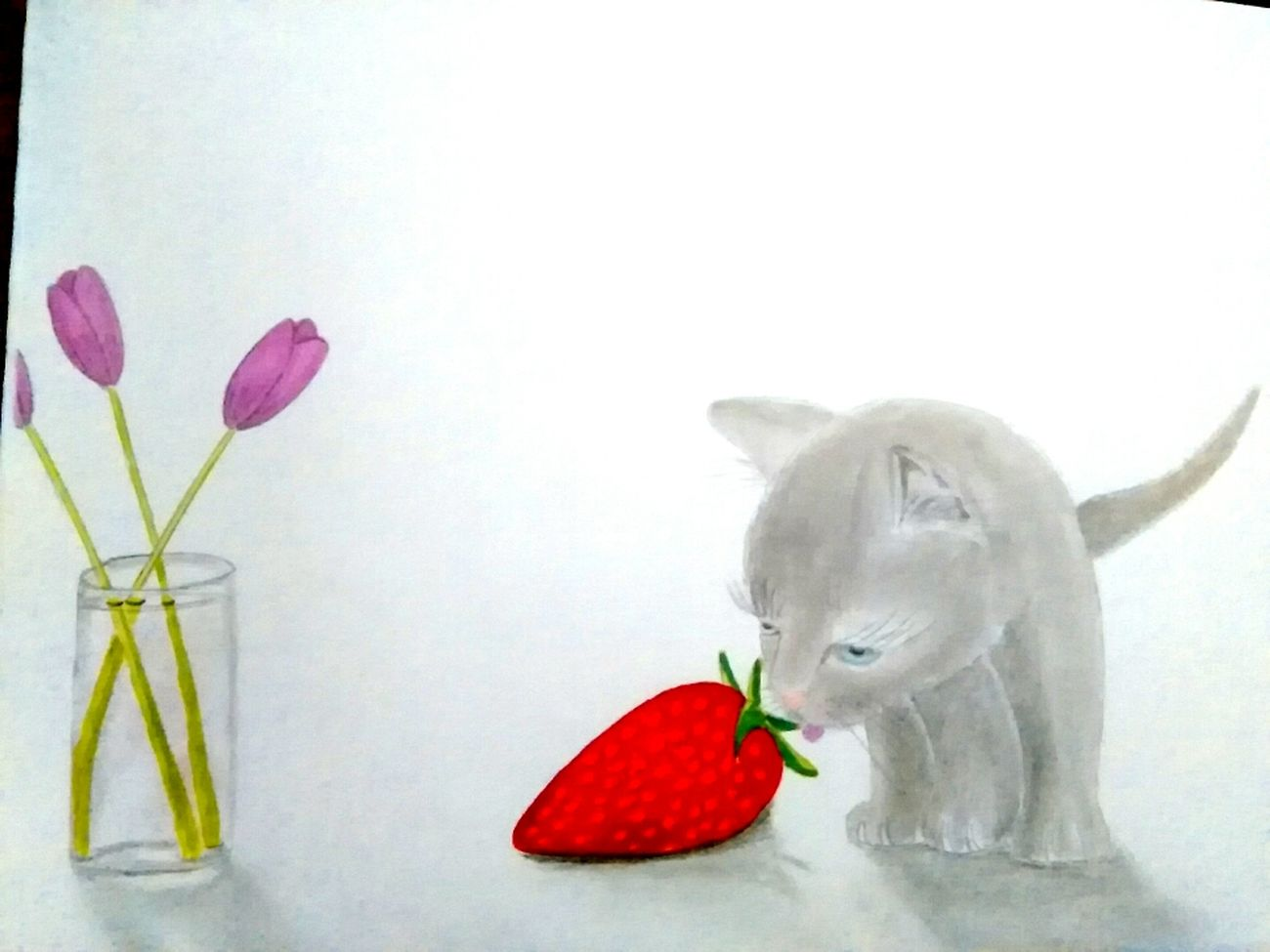 Un jour les chats domineront le monde et leurs premiers repas sera.... Des fraises 🍓🍓 Relaxing Taking Photos Hi! That's Me Check This Out Enjoying Life Hanging Out Hello World France Getting Inspired April French Getting Creative First Eyeem Photo Mypointofview Showcase April Drawing Draw Drawings Dessin ByJarod