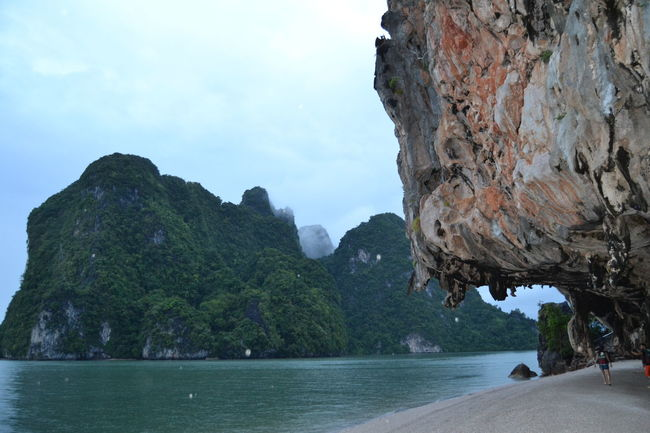 James Bond Island Water Tranquil Scene Scenics Tranquility Mountain Rock - Object Sky Waterfront Beauty In Nature Nature Rock Formation Cloud Non-urban Scene Remote Mountain Range Coastline Outdoors Rocky Mountains Cliff Sea