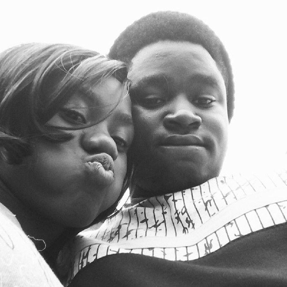 Me and @_nkem_ Lesister Blacknwhite Poutoflife