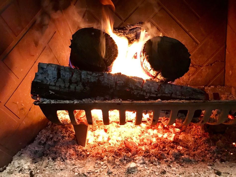 Thanksgiving Fireplace Heat - Temperature Fire - Natural Phenomenon Flame Burning No People Food Close-up Outdoors Day