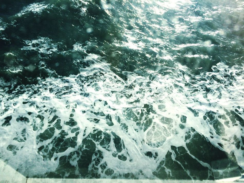 Pattern Pieces Ferry Water Froth Swirl Traveling L&N Eurotrip Sea View From Above The Channel