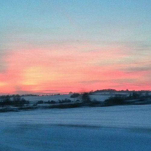 Nebe červánky Nebehori Zima Snih Podvecer Skyonfire Sky Winter Snow Nofilter Nature Alpenglow Pinksky Sunset
