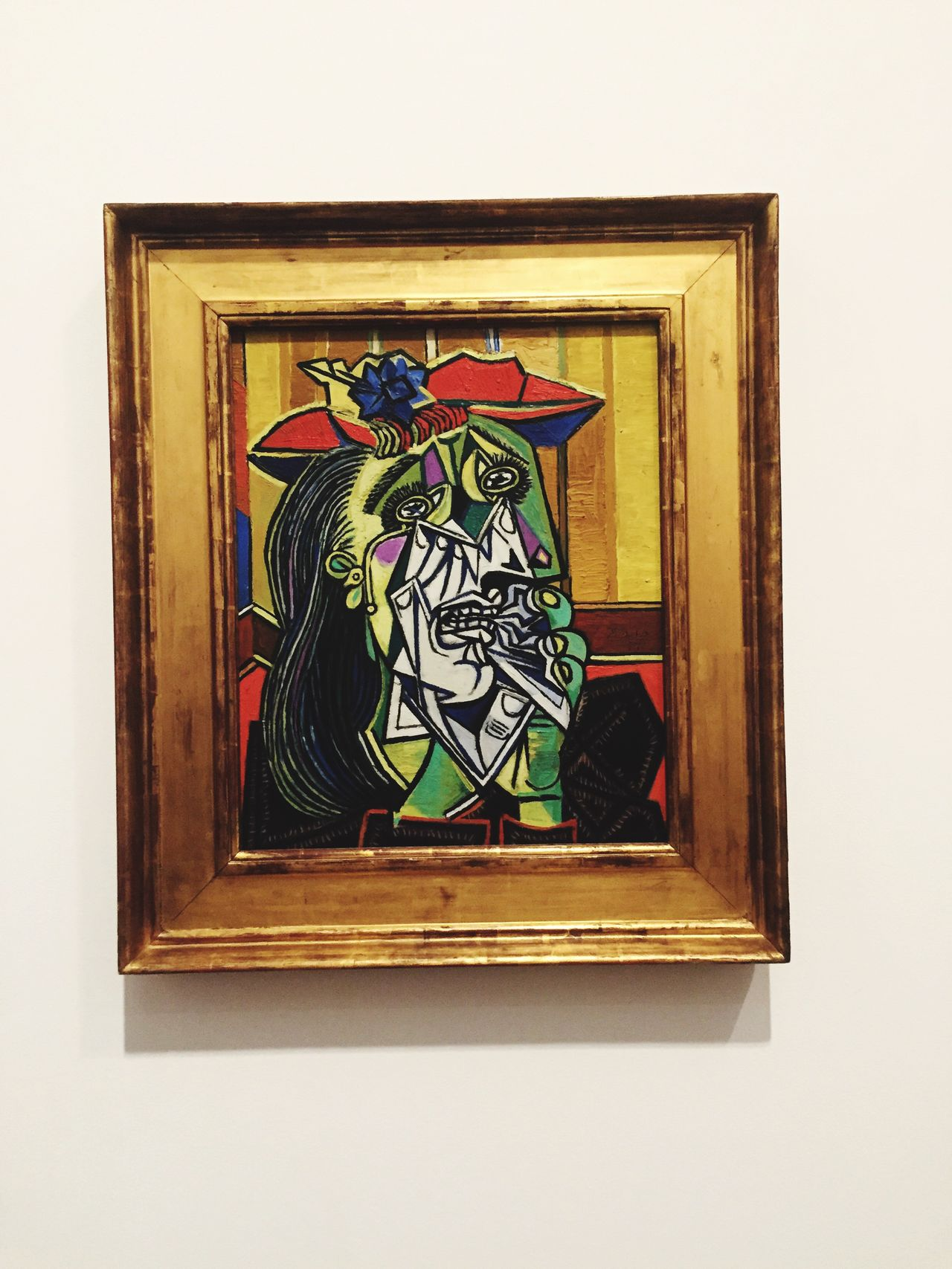 The Weeping Woman. Pablo Picasso. Picasso Art And Craft Creativity Window Close-up Picture Frame Design Day Green Color Rectangle Multi Colored No People Full Frame Memories TateModern The Weeping Woman